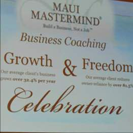 Maui Mastermind 2016 Growth Awards pic 1