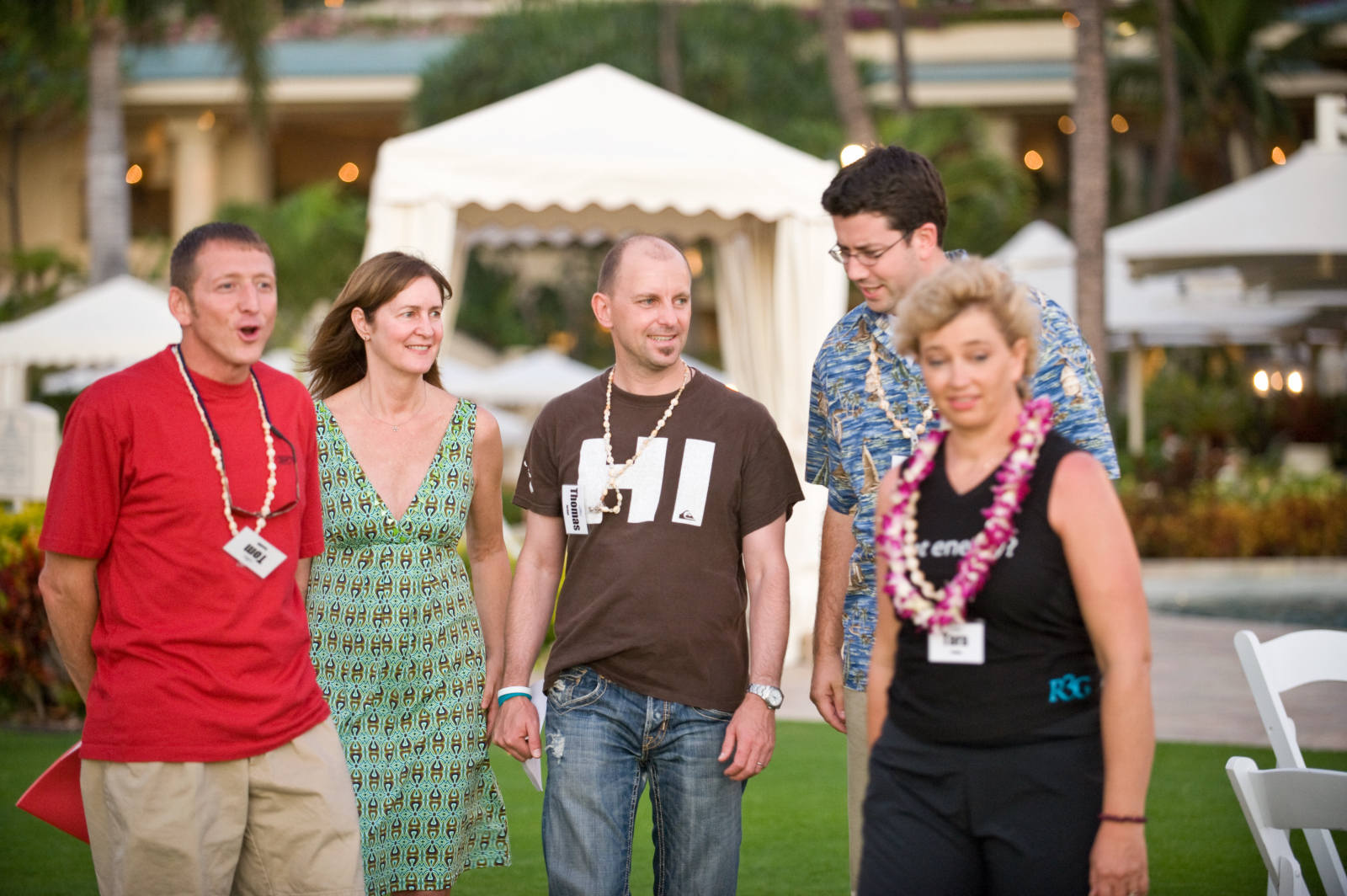 Tom Santilli (far left) enjoying a celebration with his business owner peers in Maui.  Seven years after first applying the S.C.A.L.E. Formula, Tom grew his company to sales of over $20 million and transitioned to own his business passively.