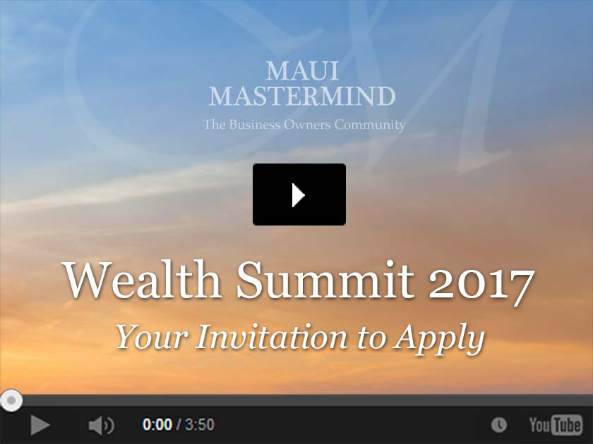 Wealth Summit 2017 Your Invitation to Apply video