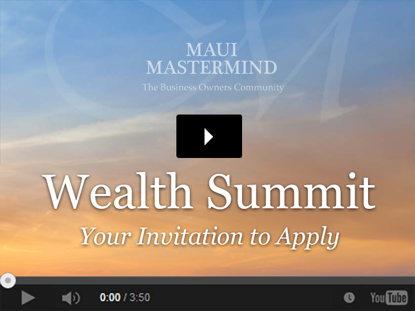 Wealth Summit 2018 Your Invitation to Apply video