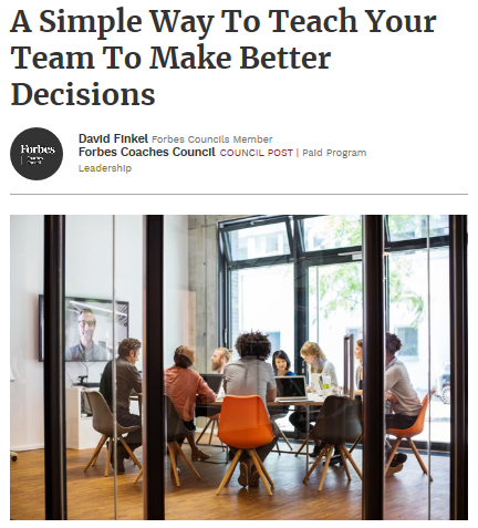 A Simple Way To Teach Your Team To Make Better Decisions