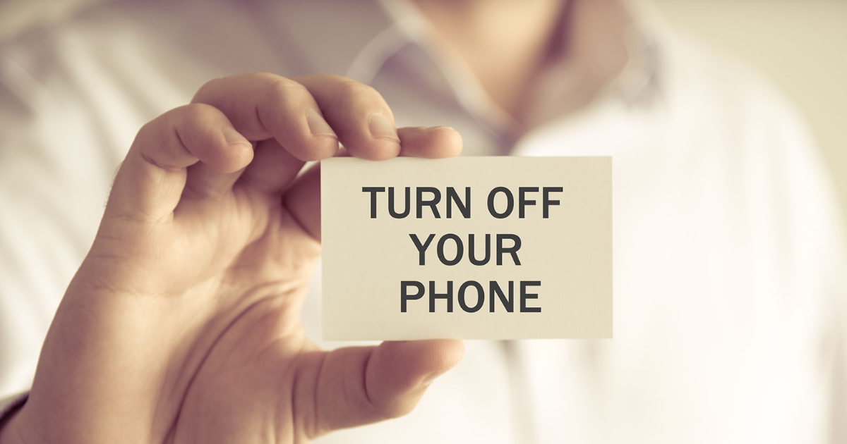 Want to Look More Professional? Turn Off Your Phone