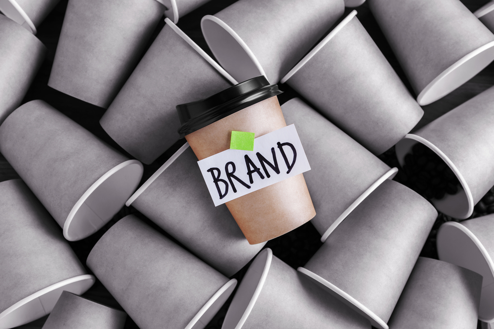 Coffee identity brand building concept with different and standing out from others